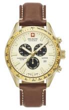 Swiss Military Hanowa Phantom Chronograph Quartz Watch with Leather Strap 06-4314.02.002