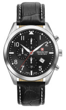 Swiss Military Hanowa Helvetus Chronograph Quartz Watch with Leather Strap 06-4316.04.007