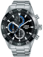 Lorus Men's Chronograph Quartz Watch with Stainless Steel Bracelet RM335FX9