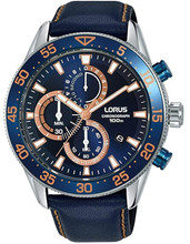 Lorus Men's Chronograph Quartz Watch with Leather Strap RM341FX9