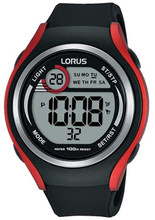 Lorus Men's LCD Digital Watch with Resin Strap R2379LX9