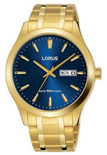 Lorus Men's Analogue Watch with Day/Date & Stainless Steel Bracelet RXN62DX9