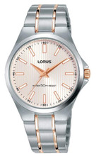 Lorus Women's Analogue Watch with Stainless Steel & Rose Gold Bracelet & Milky Pink Sunray Dial RG225PX9