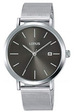 Lorus Men's Analogue Watch with Stainless Steel Mesh Bracelet & Grey Sunray Dial RH919KX9