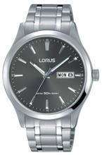 Lorus Men's Analog Watch with Day/Date Display, Stainless Steel Bracelet & Grey Dial RXN35DX9