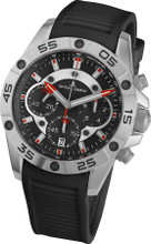Jacques Lemans Liverpool 1-1773A Gents Silicone Chronograph Quartz Analog Watch