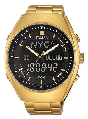 Pulsar Men's Analog-Digital Watch with World-Time and Stainless Steel Band - PZ4012X1 - Amber Trading