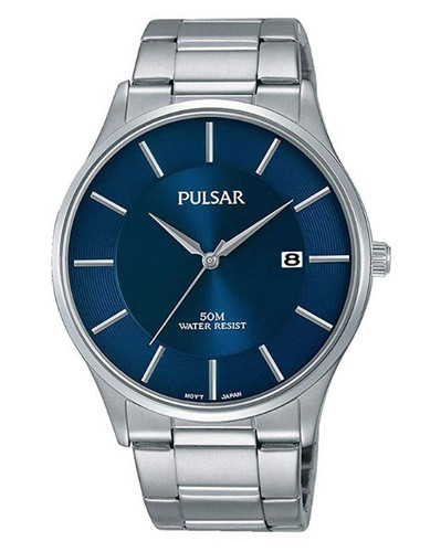 Pulsar Men's Analog Quartz Watch with Date and Stainless Steel Band Blue Dial - PS9541X1