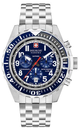 Swiss Military Hanowa Touchdown Chrono Chronograph Quartz Watch with Stainless Steel Bracelet 06-5304.04.003