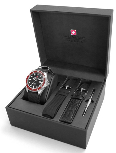 Swiss Military Hanowa Navy Sea Lion Quartz Watch Set with Interchangeable Straps 06-8279.04.007.04SET