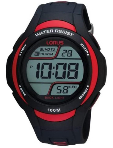 Lorus Men's LCD Digital Watch with Resin Strap R2307EX9