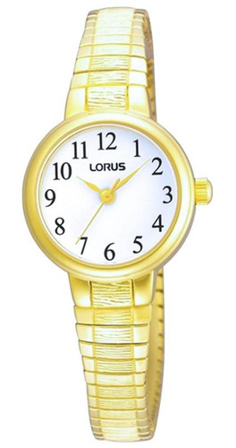 Lorus Women's Analogue Watch with Gold Tone Expansion Bracelet & White Dial RG236NX9
