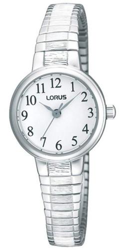 Lorus Women's Analogue Watch with Silver Tone Expansion Bracelet & White Dial RG239NX9