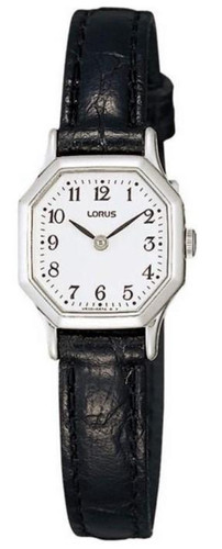Lorus Women's Analogue Watch with Black Leather Strap & White Dial RPG39BX8