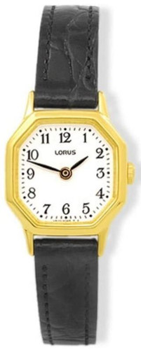 Lorus Women's Analogue Watch with Black Leather Strap & White Dial RPG40BX8