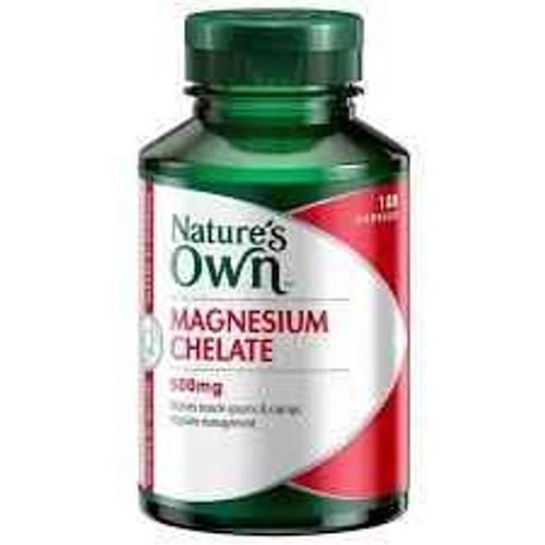 Natures Own Magnesium Chelate 500mg 180 Capsules Natures Own SuperPharmacyPlus