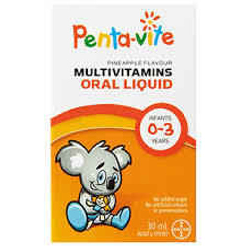 Penta-vite Liquid Multivitamins for Infants 0-3 yrs - 30mL Bayer SuperPharmacyPlus