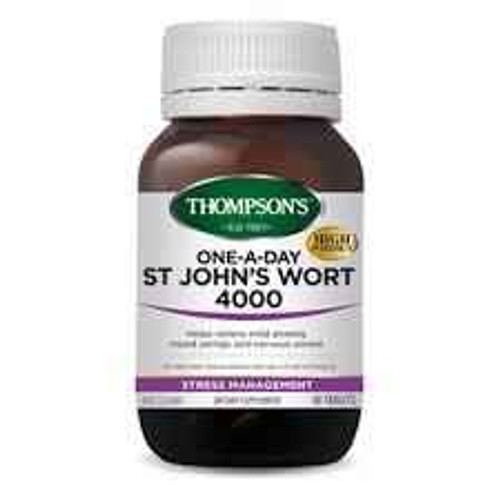 Thompsons One-a-day St Johns Wort 4000mg 60 Tablets Integria Healthcare SuperPharmacyPlus