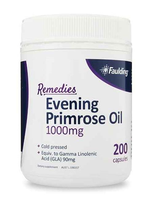 Faulding Remedies Evening Primrose Oil 1000mg 200 Capsules Faulding SuperPharmacyPlus