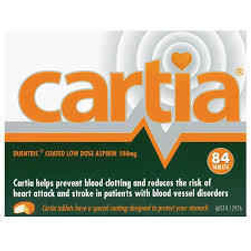 Cartia 100mg Aspirin 84 coated Tablets Aspen SuperPharmacyPlus