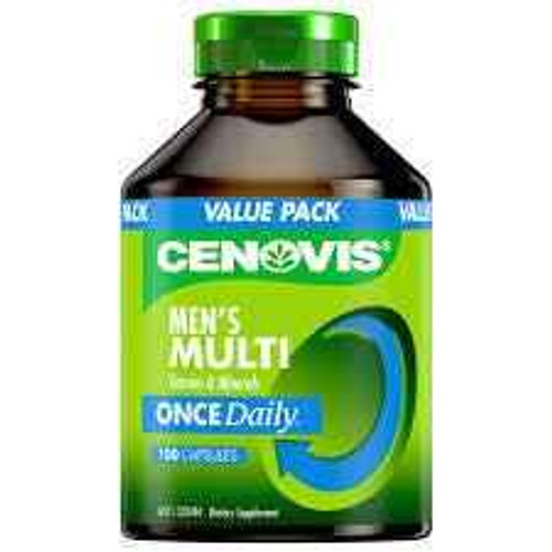 Cenovis Once Daily Mens Multivitamins and Minerals 100 Capsules Cenovis SuperPharmacyPlus