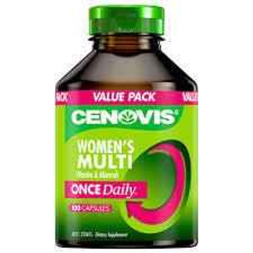 Cenovis Once Daily Womens Multi Vitamins and Minerals 100 Capsules Cenovis SuperPharmacyPlus