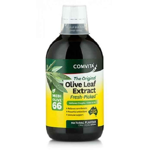 Comvita Olive Leaf Extract Natural Flavour 500mL Comvita SuperPharmacyPlus