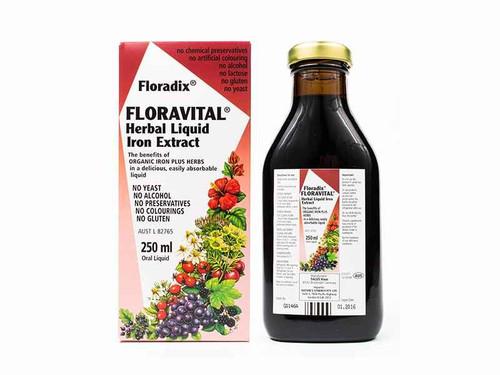 Floradix Floravital Herbal Liquid Iron Extract 250mL Natures Synergy Pty Ltd SuperPharmacyPlus