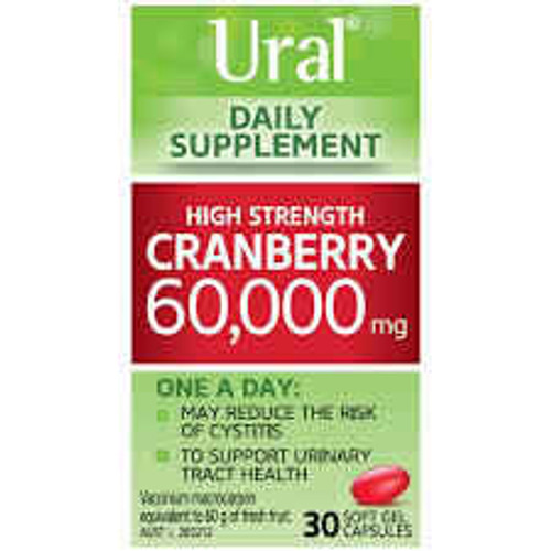 Ural High Strength Cranberry 60000mg 30 Capsules Aspen SuperPharmacyPlus