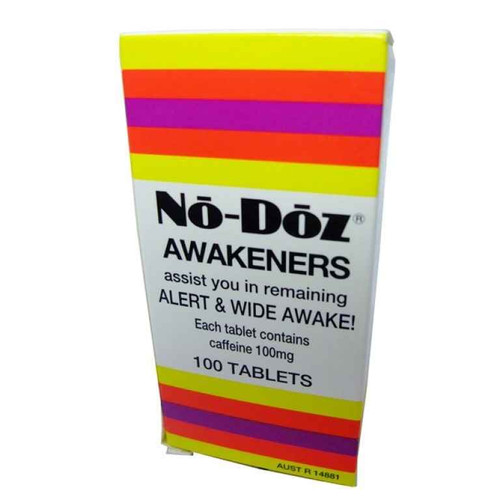 No-Doz Caffeine 100 Tablets Key Pharmaceuticals SuperPharmacyPlus