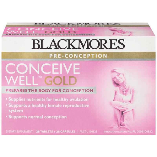 Blackmores Conceive Well Gold 28 Tablets 28 Capsules Blackmores SuperPharmacyPlus