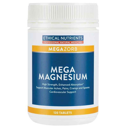Ethical Nutrients Mega Magnesium 120 Tablets Ethical Nutrients SuperPharmacyPlus
