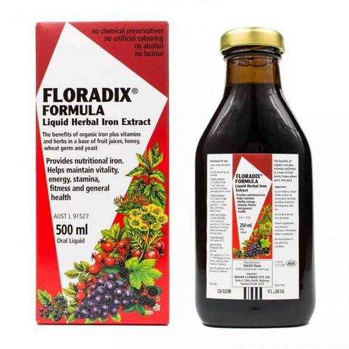 Floradix Formula Liquid Herbal Iron Extract 500ml Natures Synergy Pty Ltd SuperPharmacyPlus