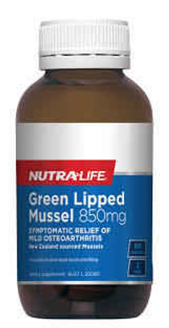 Nutra-Life Green Lipped Mussel 850mg 90 Tablets NUTRALIFE SuperPharmacyPlus