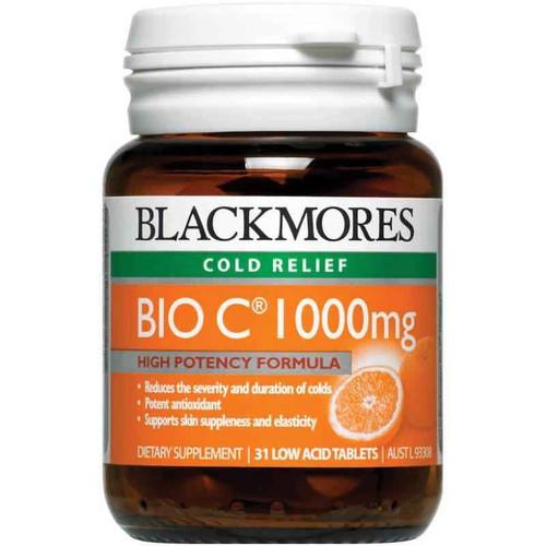 Blackmores Bio C 1000mg 31 Low Acid Tablets Blackmores SuperPharmacyPlus