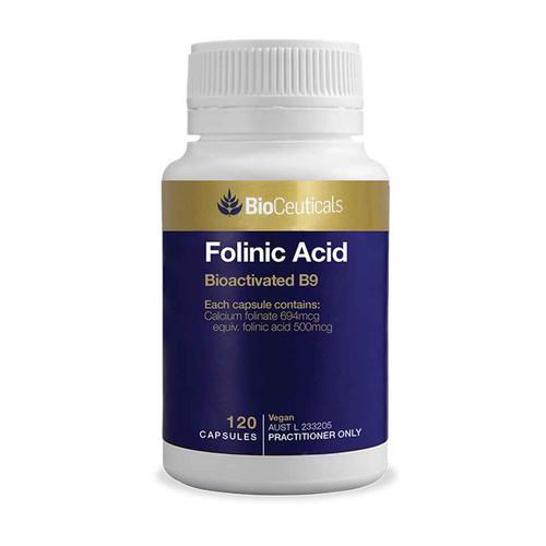 Bioceuticals Folinic Acid 120 Capsules BioCeuticals SuperPharmacyPlus