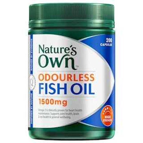 Natures Own Odourless Fish Oil 1500mg 200 Capsules Natures Own SuperPharmacyPlus