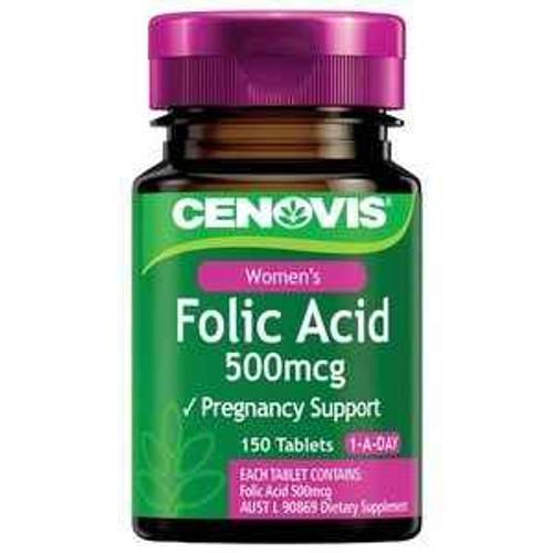 Cenovis Folic Acid 500mcg 150 Tablets Cenovis SuperPharmacyPlus