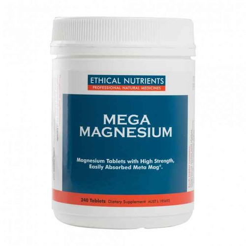 Ethical Nutrients Mega Magnesium 240 Tablets Ethical Nutrients SuperPharmacyPlus