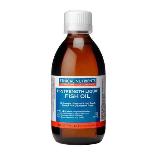 Ethical Nutrients Hi-Strength Liquid Fish Oil 280ml Fruit Punch Flavour Ethical Nutrients SuperPharmacyPlus