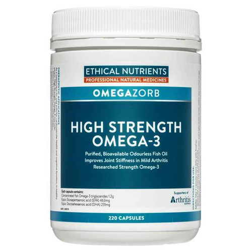 Ethical Nutrients Hi-Strength Omega-3 Fish Oil 220 Capsules Ethical Nutrients SuperPharmacyPlus