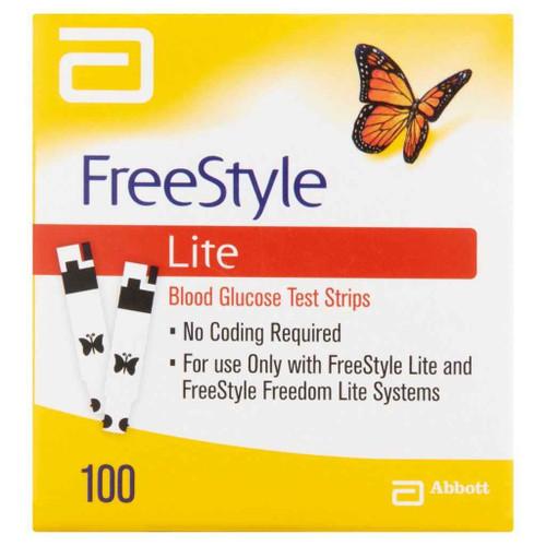 Freestyle Lite Blood Glucose Strips Box of 100 Abbott SuperPharmacyPlus