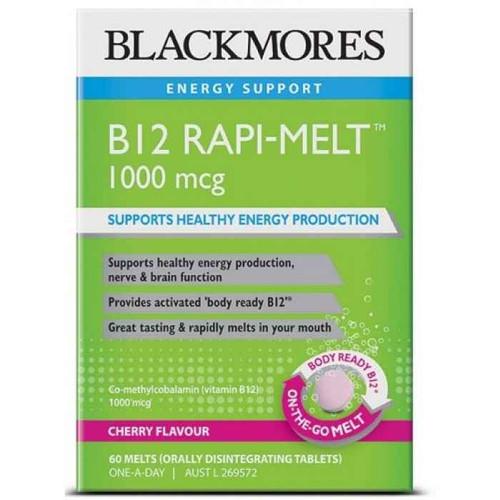 Blackmores B12 Rapi-Melt 1000mcg 60 Melts Blackmores SuperPharmacyPlus
