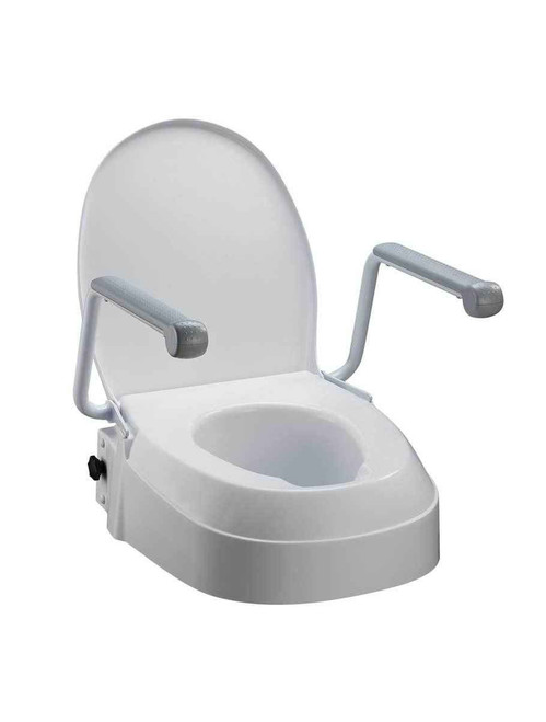 Homecraft Raised Toilet Seat with Armrests Adjustable Height Homecraft SuperPharmacyPlus