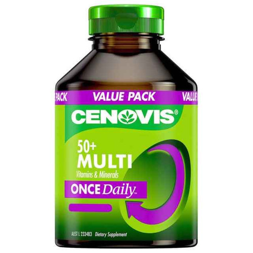 Cenovis Once Daily 50 Multi Vitamins and Minerals 100 Capsules Cenovis SuperPharmacyPlus