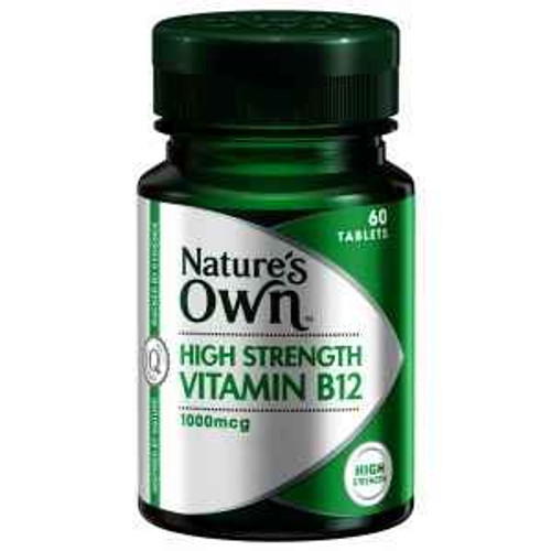 Natures Own Vitamin B12 1000 mcg 60 Tablets Natures Own SuperPharmacyPlus