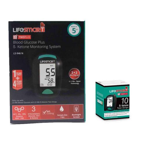 LifeSmart 2TwoPlus Ketone Testing Starter Pack Meter 1x Ketone test strips Genesis Biotech Pty Ltd SuperPharmacyPlus