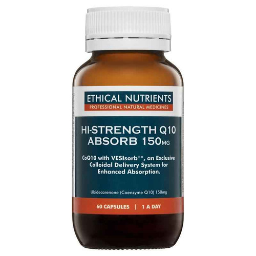 Ethical Nutrients Q10 Absorb 150mg 60 Capsules Ethical Nutrients SuperPharmacyPlus