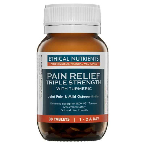 Ethical Nutrients Pain Relief Triple Strength 30 Tablets Ethical Nutrients SuperPharmacyPlus
