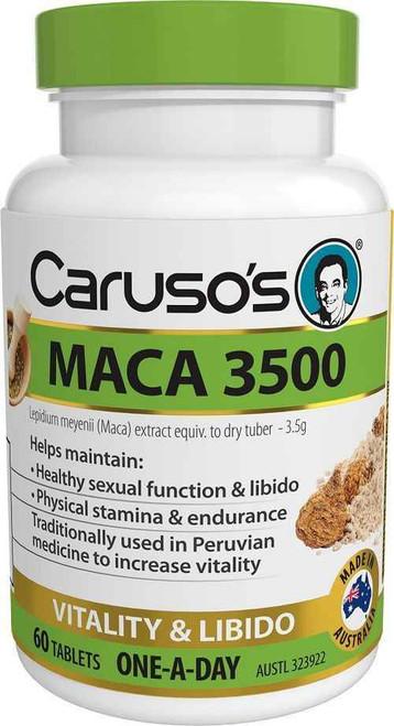 Carusos Maca 3500 60 Tablets Carusos SuperPharmacyPlus